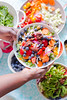Summer Rice and Black Bean Salad (Elsbro) Tags: salad rice blackbeans vegetables blueberries pickledpeppers pecans strawberries vegan glutenfree summer fruits