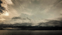 Incoming, Fernandina Beach (Suzanna Mars) Tags: cloudsstorm thunderstorm floridastorms summerstorms ameliaisland fernandinabeach