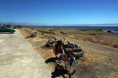 On HWY 1 (Franklyn W) Tags: biketour bikecamping bikeride touring touringbike california pacificcoasthighway hwy1 cahwy1 bigsur kirkcreek sansimeon cambria cayucos morobay morobaystatepark pacificocean twitter tumblr morrobay morrobaystatepark morrorock morrostrandstatebeach