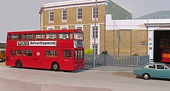 DMS at Barking (kingsway john) Tags: london transport barking bus garage bk dms daimler fleetline model 176 scale efe kingsway models card building kit oo gauge londontransportmodel diorama miniature