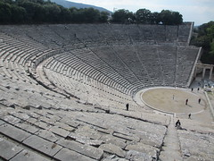Geometric view of ancient theater, Epidaurus, Greece (Paul McClure DC) Tags: epidaurus epidavros greece nov2014 historic architecture argolis peloponnese ελλάδα ελλάσ