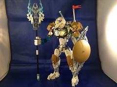Kopaka, Master of Ice (Pre-redesign version) 03 (MrBoltTron) Tags: white ice gold robot master bionicle toa kopaka