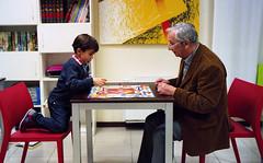 grandson VS grandfather (Giorgio R) Tags: film 35mm kodak summicron grandson granfather leicam6 analogphoto filmcolor ultramax400 boardgamechallenge