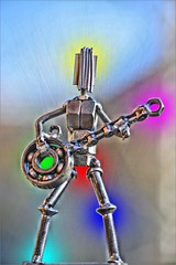 Metal Man Rocks (swong95765) Tags: man rock metal screw lights guitar illumination bolt rocking starburst