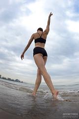 Beach girl- Chicago (JeffreyRoss) Tags: ballet lake chicago beach water photography dance model kat exercise il bikini naperville jeffreyross