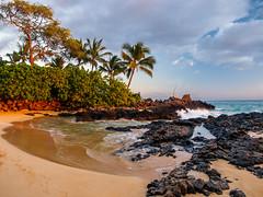 Feeling like Hawaii III (bluesywaters) Tags: ocean sunset color beach hawaii warm waves fishermen secretbeach maui