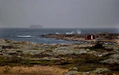 Coastal Composition (bjorbrei) Tags: ocean sea seascape norway coast waves ship seashore hvaler asmaløy