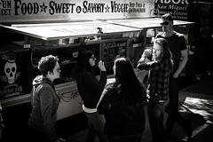 San Francisco Food Trucks (b'jesus) Tags: sanfrancisco street leica blackandwhite food truck lunch 50mm summicron soma m9 f20