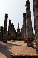 Pillar Ruins (Chaiyapat_H) Tags: old thailand temple ancient ruins decay historical pillars sukhothai
