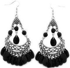 5th Avenue Black Earrings P5110A-2
