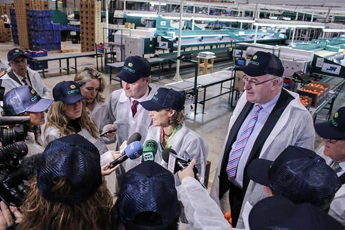 La Ministra de Agricultura atiende a los medios de comunicación