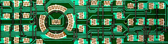 Remote Landscape (fillzees) Tags: stilllife detail macro green landscape pattern control flat shapes trace panoramic electronics remote remotecontrol electronic circuit tabletop circuitboard repeating