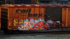 pike (timetomakethepasta) Tags: train graffiti box rail pike freight sfb