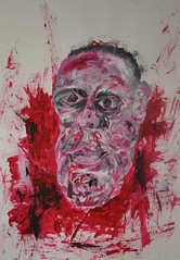 Severed (ritchie.callum) Tags: red portrait face painting blood paint acrylic disfigured callumritchie