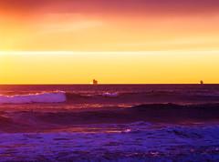 Ships at sunset (F.emme) Tags: ocean california sunset beach seaside ships minimal southerncalifornia huntingtonbeach