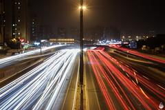 Busy Busy!! (lightexperiment) Tags: road red white lightpainting traffic motorway busy kuwait salmiya lightstreams 5thringroad fahadjameel roadno5