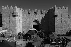 Damascus Gate (yom1) Tags: history wall canon eos israel gate palestine jerusalem entrance porte walls 1855 oriental orient damascus holyland oldcity entrée damas judea remparts levant alquds yerushalayim rempart damascusgate jeru eastjerusalem jerusalme eos450d portededamas efs1855is oldcityofjerusalem rebelxsi jerusalemest yom1 babelhamoud