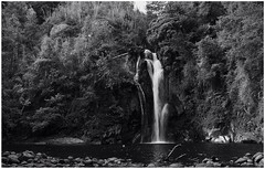 Just another waterfall (Gonzalo Vergara T) Tags: chile blackandwhite blancoynegro water ro river landscape waterfall agua exposure time paisaje bn timeexposure cascada pucn araucana