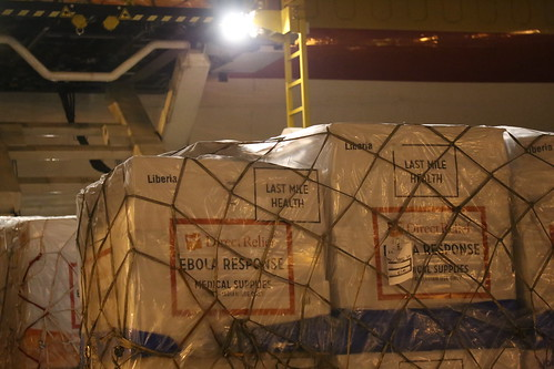 Ebola Facility Modules, Direct Relief, Airlift, LAX 123