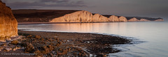 Seven Sisters - Reflective (JamboEastbourne) Tags: park sunset sea england cliff white sisters sussex chalk country cliffs east seven reflective downland