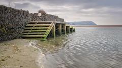 Landing Stage (K_D_B (One Eye On The Sky)) Tags: sea water wall canon wooden sand steps estuary newport ripples slate landingstage kdb parrog dinashd 7dmkii sigma1770f28dcosmacro
