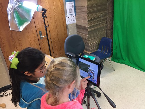 Maker Studio  - Green Screen Student Vid by Wesley Fryer, on Flickr
