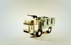 'Bull' MTAPC (SilverMorph) Tags: urban white modern truck soldier lego united transport utility security bull lorry intelligence vehicle conflict combat apc carrier nations troop personnel capacity armoured taskforce warzone brickarms legography mtapc