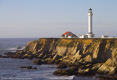 Point Arena Light (Patrick Dirden) Tags: ocean california light sea coastguard lighthouse northerncalifornia sandstone waves pacific cliffs erosion pacificocean bluffs pointarena northcoast pointarenalighthouse mendocinocounty pointarenaca