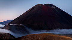 Fleeting Moment (blue polaris) Tags: park new red summer cloud fog sunrise landscape island volcano crossing north zealand alpine national crater tongariro ngauruhoe