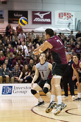 McMaster Marauders vs Waterloo Warriors Championship Final Match (Haddadios) Tags: york ontario sport bronze silver ed four gold athletics nikon university waterloo celebrations final ii mens lions windsor warriors volleyball championships nikkor gym vr afs mcmaster marauders medals 70200mm lancers 2470mm burridge oua f28g mvb d4s
