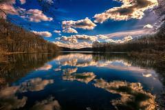 Clouds in the water! (radonracer) Tags: landscape natur himmel wolken landschaft spiegelung niederrhein baggersee heitkampsee