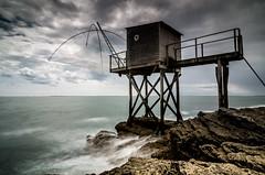 Fishing hut (ForgottenMelodies) Tags: long exposure sea fishing hut net brittany france pentax nicolasauvinet