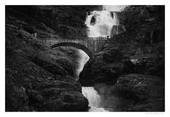 Beautiful Norway: Stigfossen Bridge (Kenneth Solfjeld) Tags: trollstigen troll ladder stigfossen waterfall ndalsnes rauma stigfossbrua bridge stone westernnorway norwegen norway norge noreg silver efex 2 pro nik