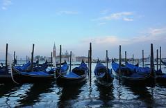 San Giorgio Maggiore from St. Mark's Square. (DietzCL) Tags: travel venice sunset italy gondolas cathderal