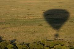Balloon Shadow - Masai Mara, Kenya (Christopher J May) Tags: africa morning shadow sunrise kenya balloon aerial hotairballoon goldenhour masaimara nikond800 nikonafsnikkor200500mmf56