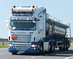 Martin Ryan (fannyfadams) Tags: uk ireland irish wagon swedish lorry articulated anglesey northwales holyhead haulage a55 martinryan rseries scaniar560