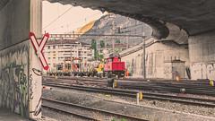 BIG WORKERS !! (Jeton Bajrami) Tags: train cheminsdefer lightroom sony alpha77ii a77ii a77mkiisal50f14 switzerland cff sbb ffs sion valais wallis perfect art 2016 sonyphotographer