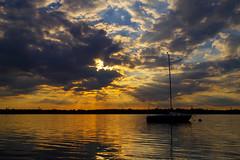 Sunrays (Michal Babik) Tags: sky sunray clouds lake jezioro niebo chmury soce landscape waterscape lakescape krajobraz outdoor leisure wypoczynek poland polska dabrowagornicza dbrowagrnicza water woda