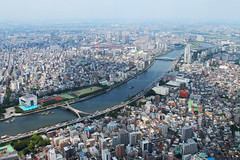 602m (gabrielmiyahara) Tags: city color water up river landscape tokyo upsidedown aerial upside aerielview couse rivercourse 602m rivercouse