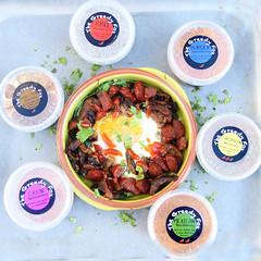 Baked eggs3 (thegreedyfoxcompany) Tags: breakfast eggs chorizo spinach baked