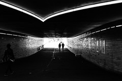 Every way leads to light / The walk to the light (zgr Grgey) Tags: street bw lines station underpass subway 50mm vanishingpoint nikon hamburg silhouettes d750 sternschanze 2016