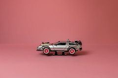 Back to the Future car! (fsm vpggru) Tags: pink car studio toy miniature minimal backtothefuture colorama