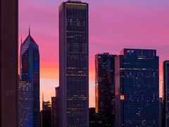 Sunset (tubblesnap) Tags: chicago lake michigan illinois sunset vivid pink orange purple yellow blue sky evening millennium park navy pier congress plaza hotel room view spectacular beautiful silver wedding trip holiday celebration