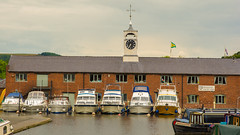 Stourport Yacht Club (williamrandle) Tags: buoyant riversevern staffordshireworcestershirecanal waterways water reflections quayside moorings cruisers narrowboats stourport worcestershire riverside outdoor nikon d7100 tamron2470f28vc summer 2016 clocktower