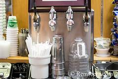 Milkshake machine at a diner in Maryland (Remsberg Photos) Tags: milkshake icecream diner dessert food restaurant nopeople indoors straws oldfashioned eat treat frostburg maryland usa