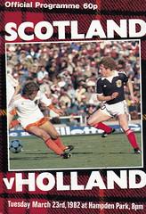 Scotland vs Holland - 1982 - Cover Page (The Sky Strikers) Tags: scotland holland netherlands official programme hampden park glasgow 60p international friendly