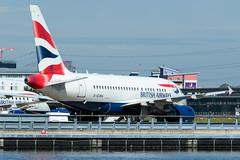 British Airways - Airbus A318-112 - G-EUNA  London City Airport (paulstevenchalmers) Tags: londoncity london lcy airport