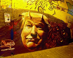 MELBOURNE LANEWAYS (16th man) Tags: melbourne vic victoria australia dumptrump melbournelaneways street artmelbourne artcanoneoseos 5d mkiii