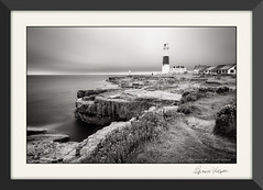Portland Bill (candicemorganphotography) Tags: lighthouse portlandbill coast dorset mono blackandwhite overcast niksilverefexpro candicemorgan sonyalpha850