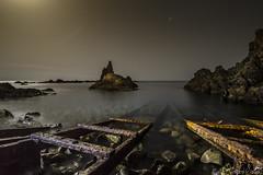 Sirena monje (Paco Fuentes Vicario) Tags: cabodegata arrecife arrecifedelassirenas parquenatural almera embarcadero lunallena waterscape nocturno night